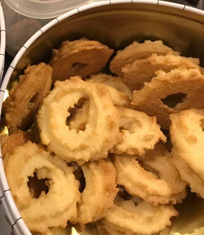 Lækre sprøde vanillekranse
