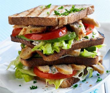 kalorier i sandwich med kylling